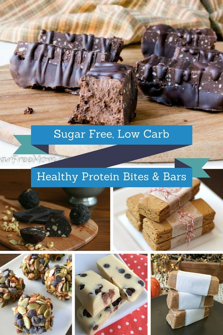 low carb, sugar free protein bites and bars