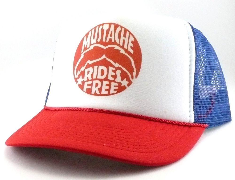 852ba3677 Mustache rides free Trucker Hat mesh hat snapback hat RWB Kid Rock ...