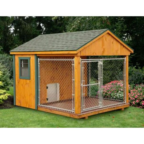 Amish Cedar Heated Dog Kennel 8 X 10 Dog House Plans Dog
