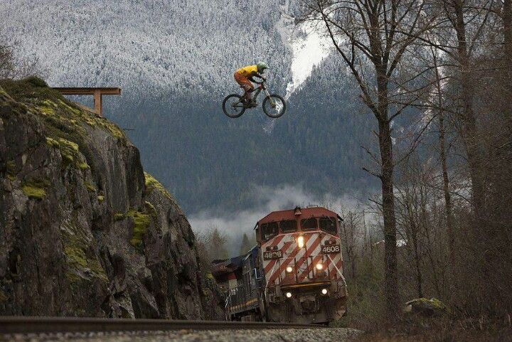Seriously Big Jump Tm Freeride Mtb Extreme Mountain Biking