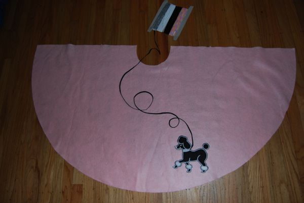 poodle skirt applique template - how to make a poodle skirt out of felt