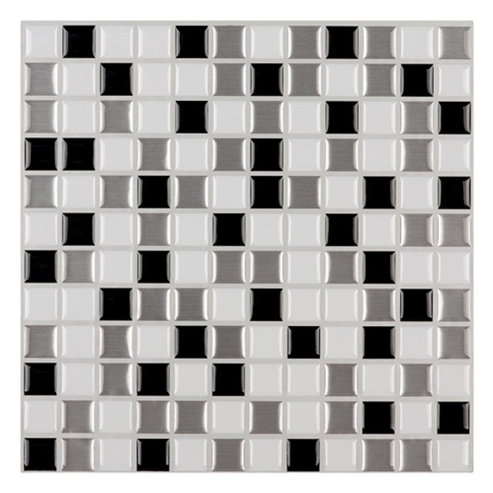 Ecoart Peel and Stick Self-Adhesive Wall Tile for Kitchen / Bathroom ...
