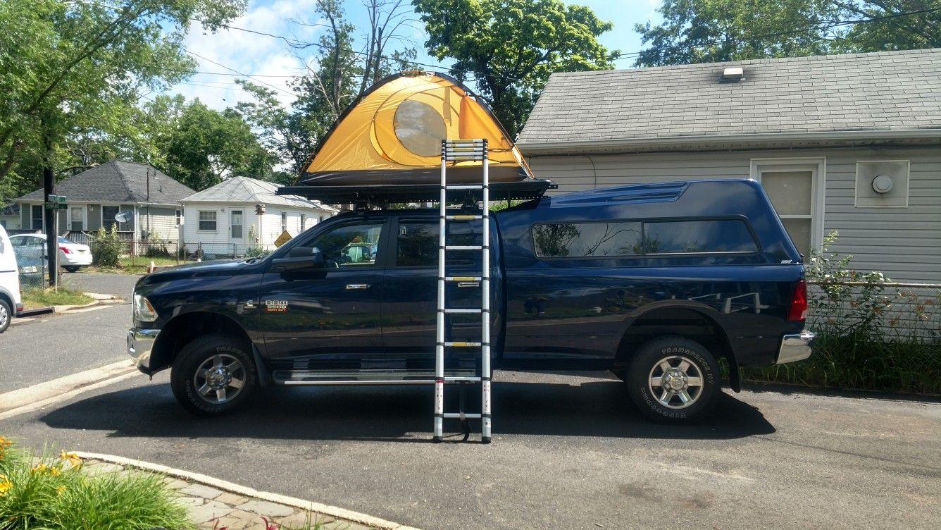 Homemade Rooftop Tent Platform.