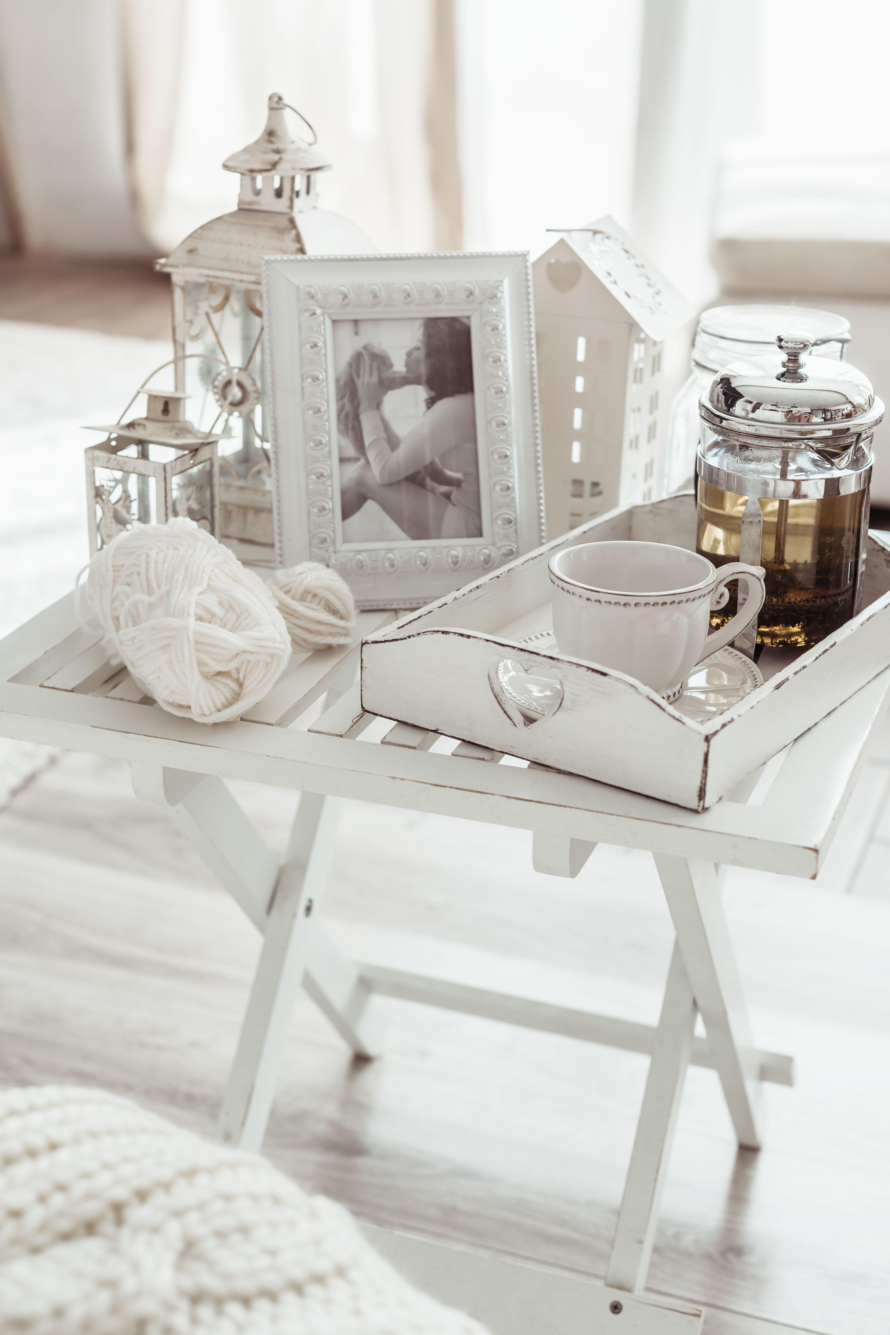 Shabby Chic geschichtliches Weiß 750ml Haus dekoration