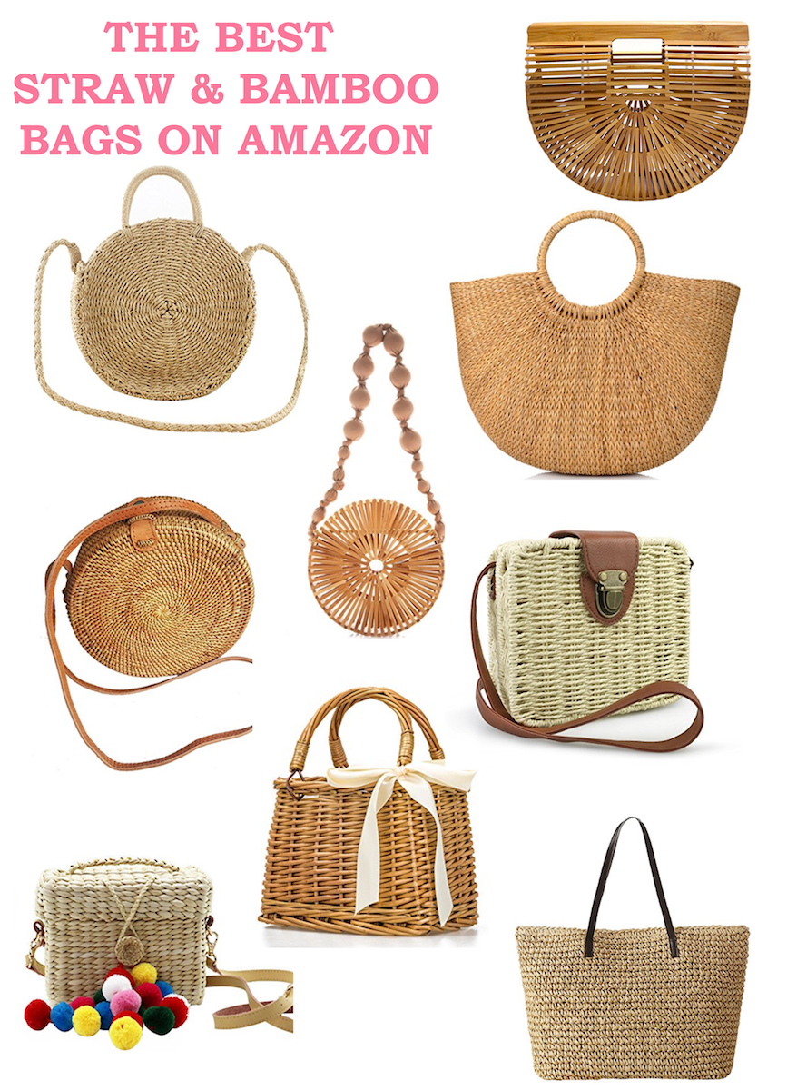 The best bamboo and straw bags and purses on Amazon