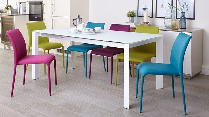 Riva Stackable Fabric Dining Chair Narrow Dining Tables Warm