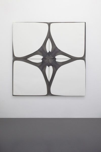 Martin Soto Climent , Tights on Canvas (Flower composition), 2012