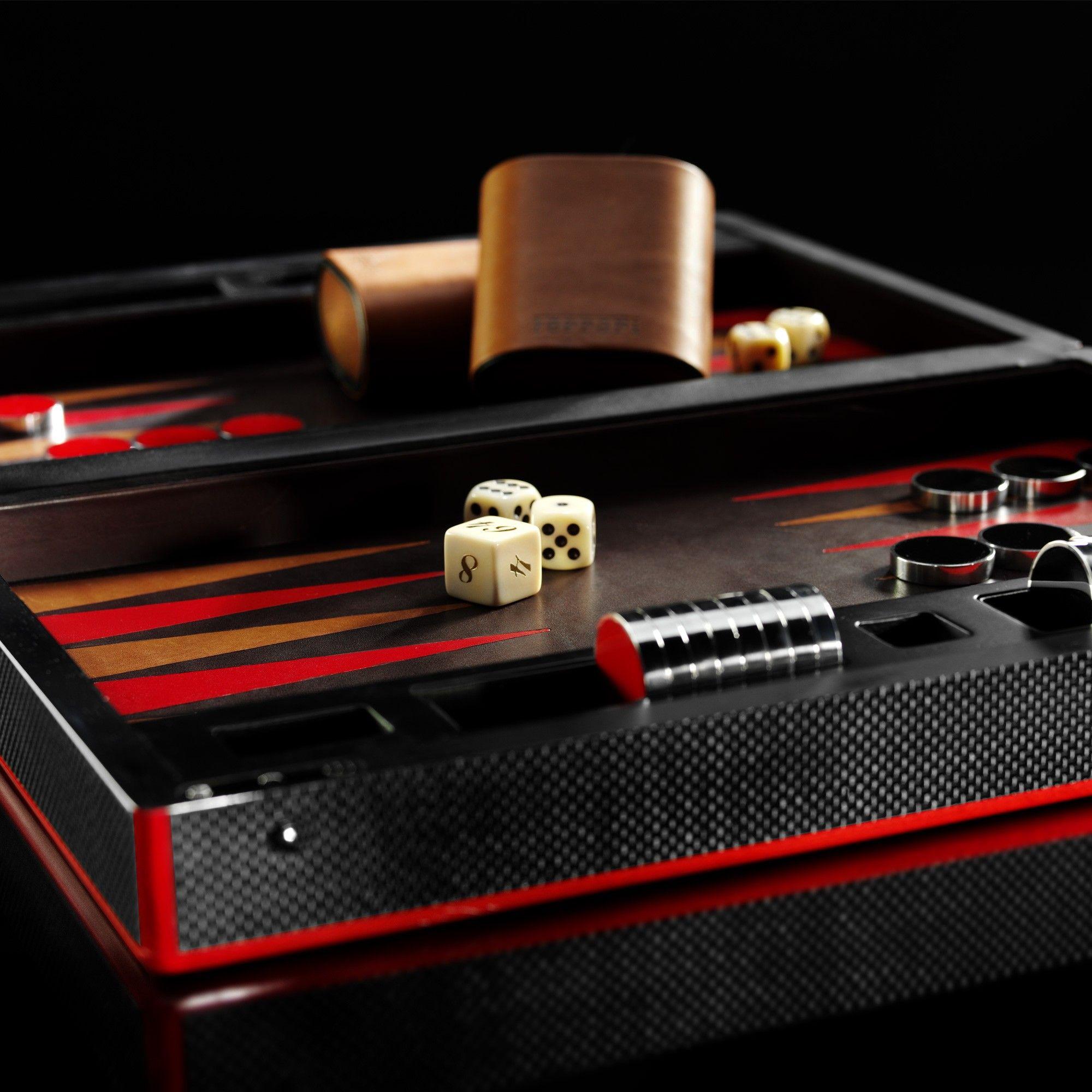 Ferrari Store Carbon fibre backgammon set. Shopping