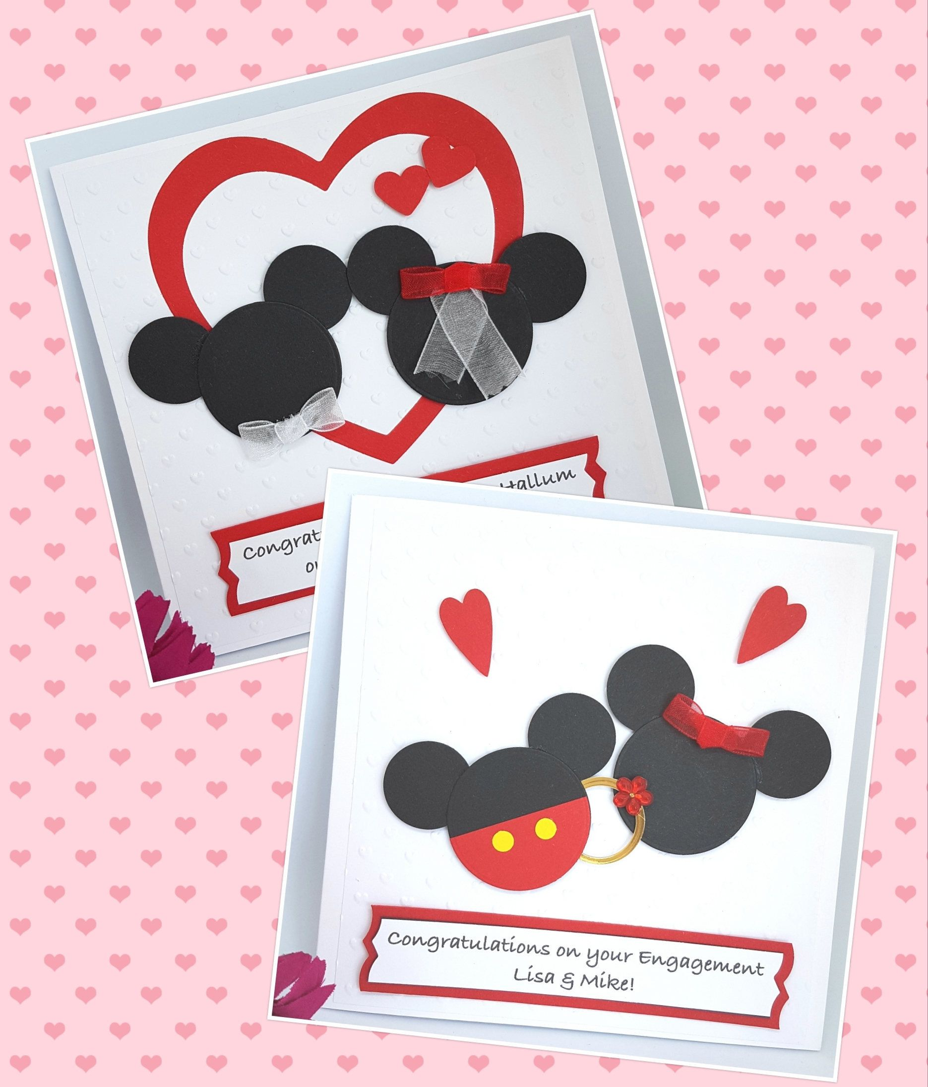 MICKEY MOUSE Personalised Handmade Card              All Occasions Birthday Open