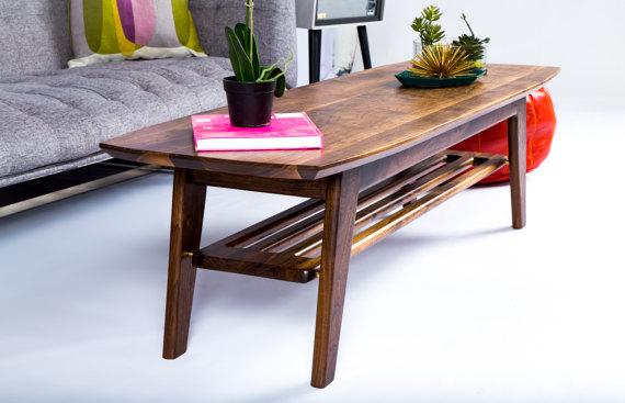 Lovely Mid Century Modern Surfboard Coffee Table