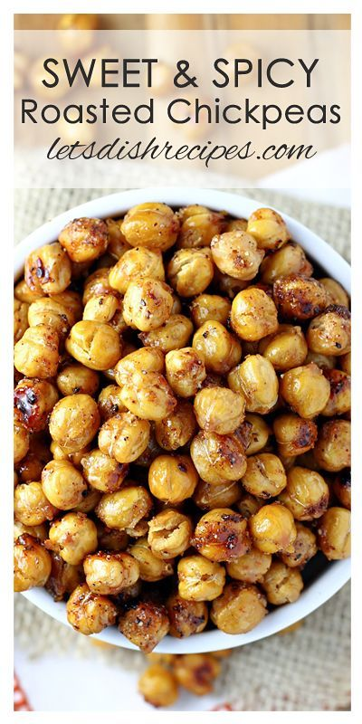 Sweet And Spicy Roasted Chickpeas Recipe Recipes Roasted Chickpeas Spicy Chickpea Recipes Roasted