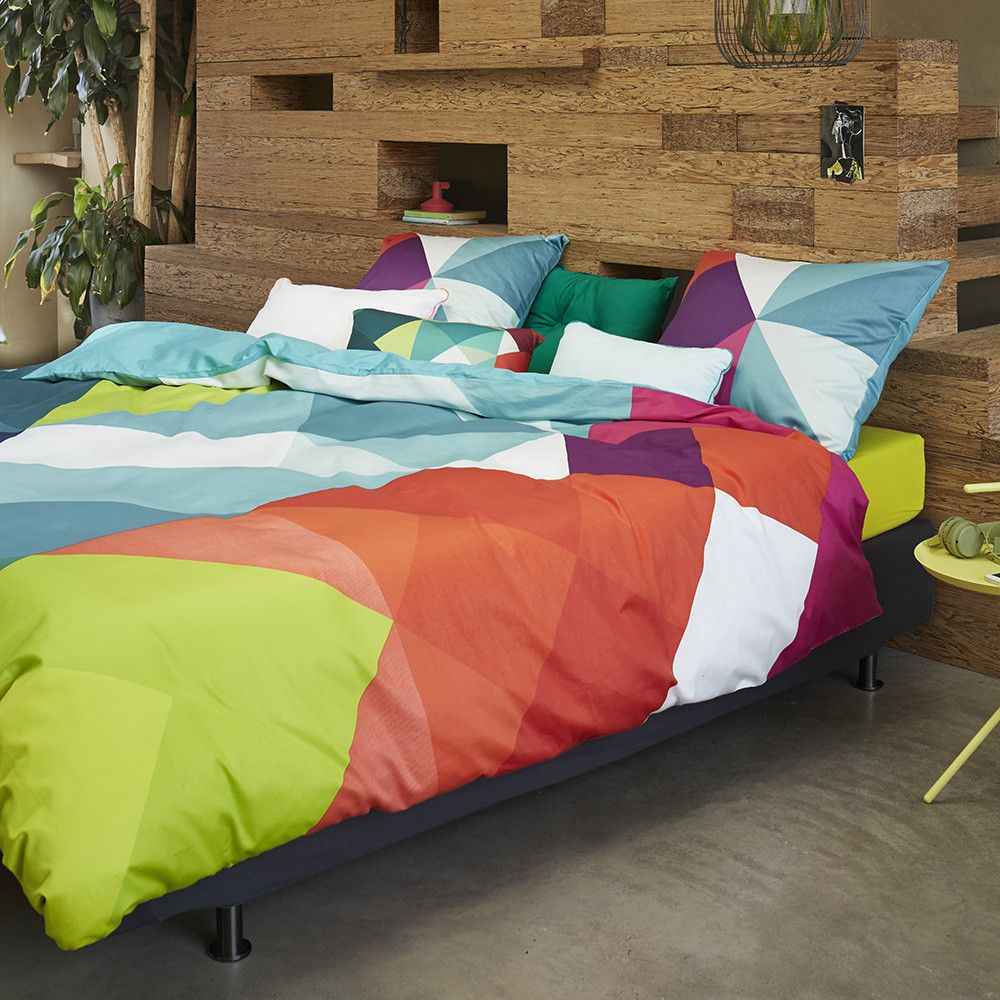 Bring unique style and bright colour to your bedroom with this sjors print duvet set from essenza included in the set is a king size duvet cover and two