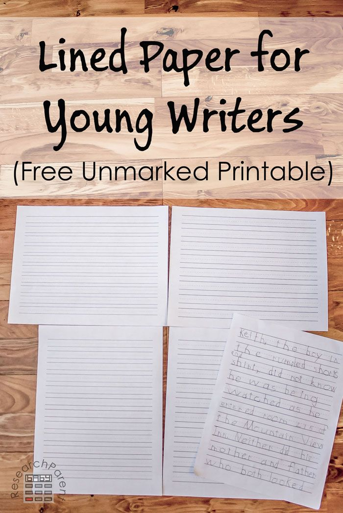 Lined Paper for Young Writers Free printable, Kindergarten and - lined paper with picture