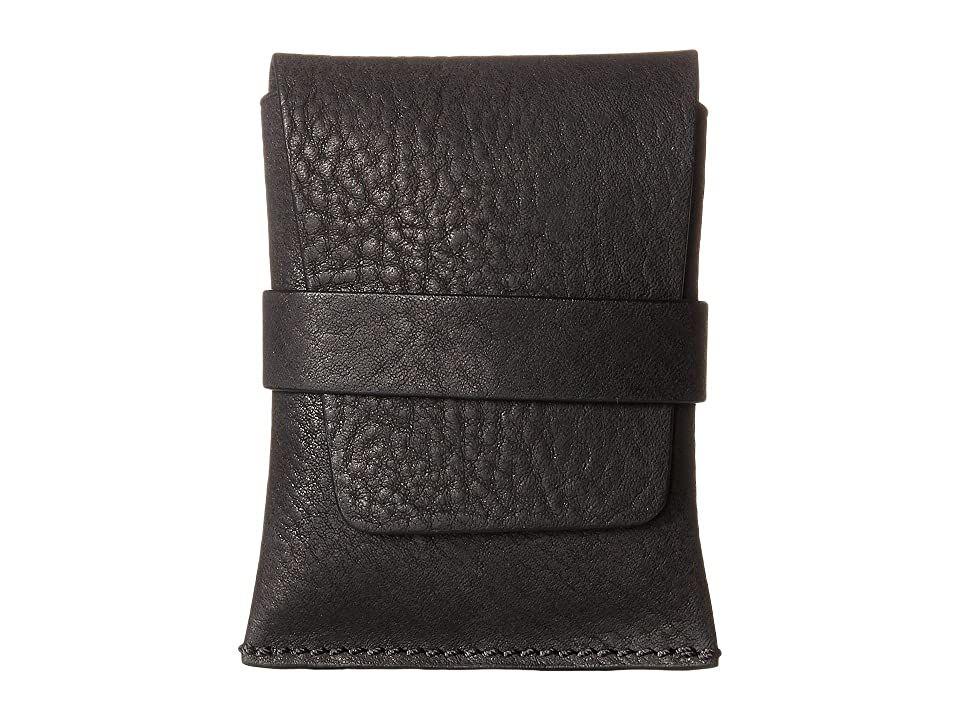 Bosca washed collection envelope card case black