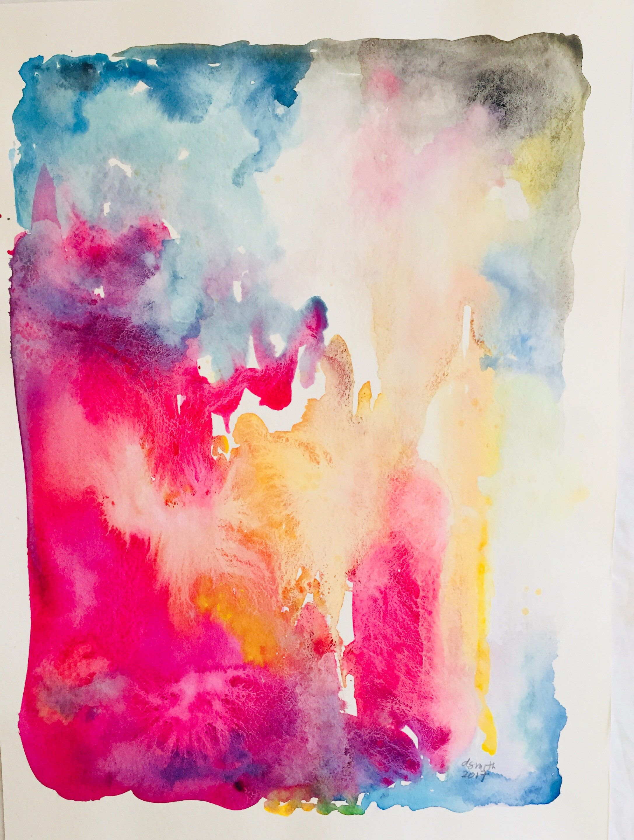 Color Rush 21 Original Affordable Watercolor Painting Abstract Unique 11x15 Unframed Wa Watercolor Paintings Abstract Etsy Abstract Unframed Wall Art