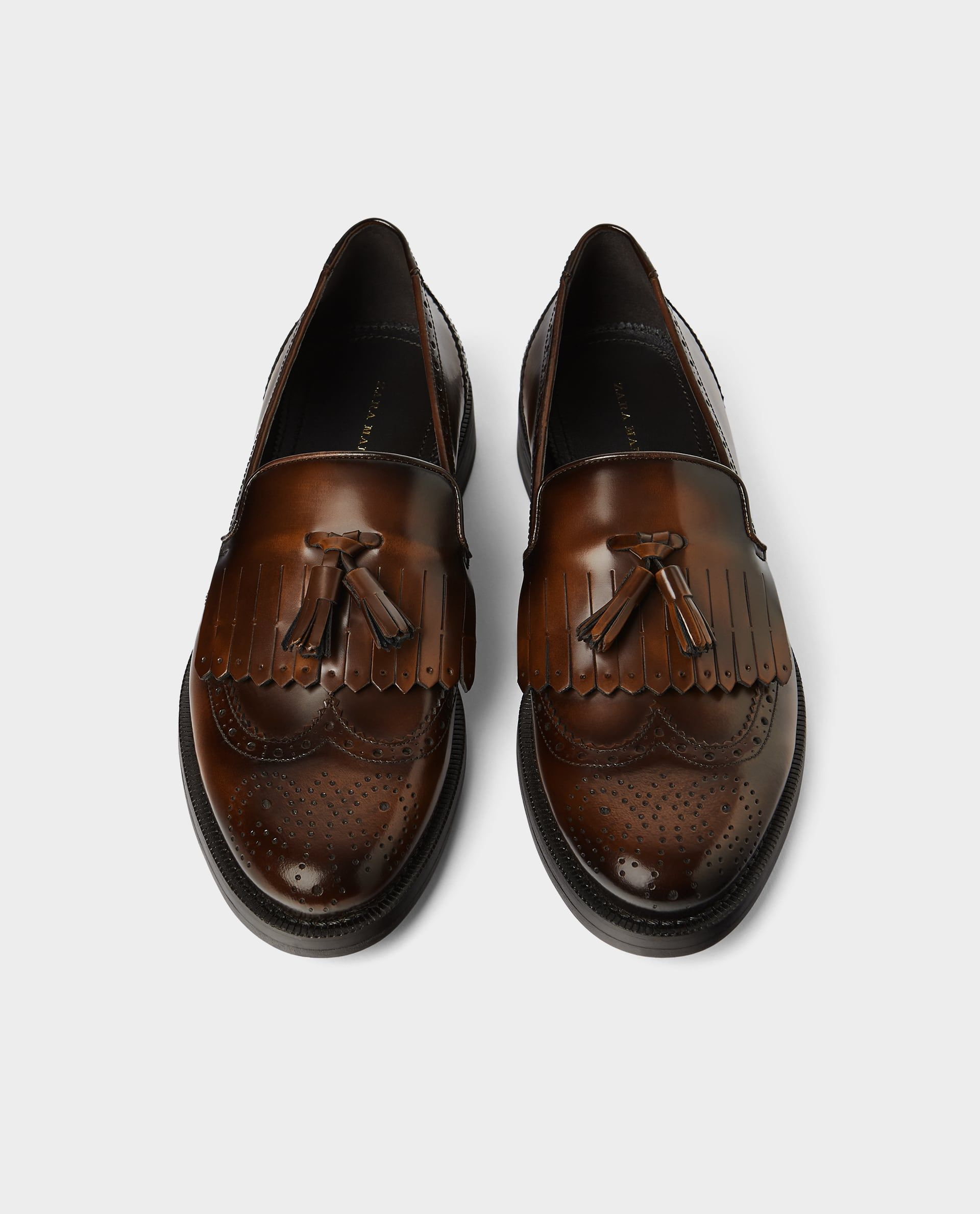 91075932d7442 Brogued leather loafer | Wardrobe | Loafers, Leather loafers ...
