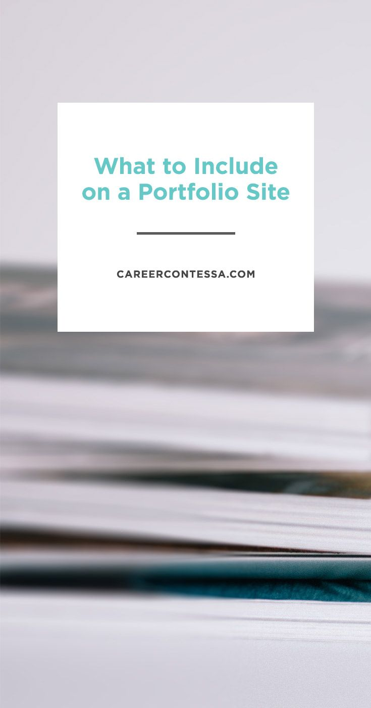 What To Include On A Portfolio Site