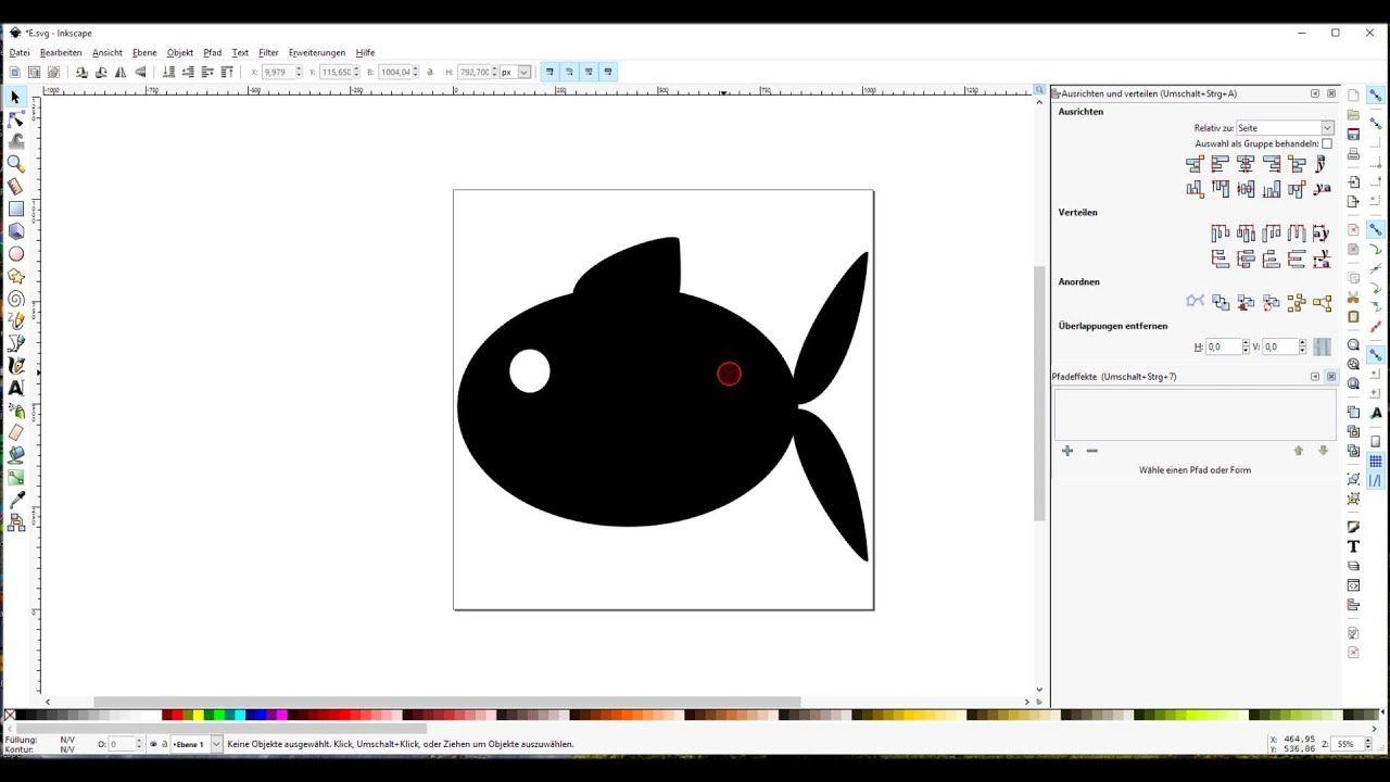 inkscape tutorial mit und glyphter eine schrift erstellen grafiken schleife vektor kreuz