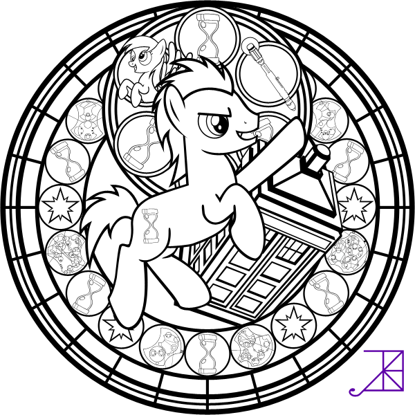 Doctor Hooves Stained Glass Coloring
