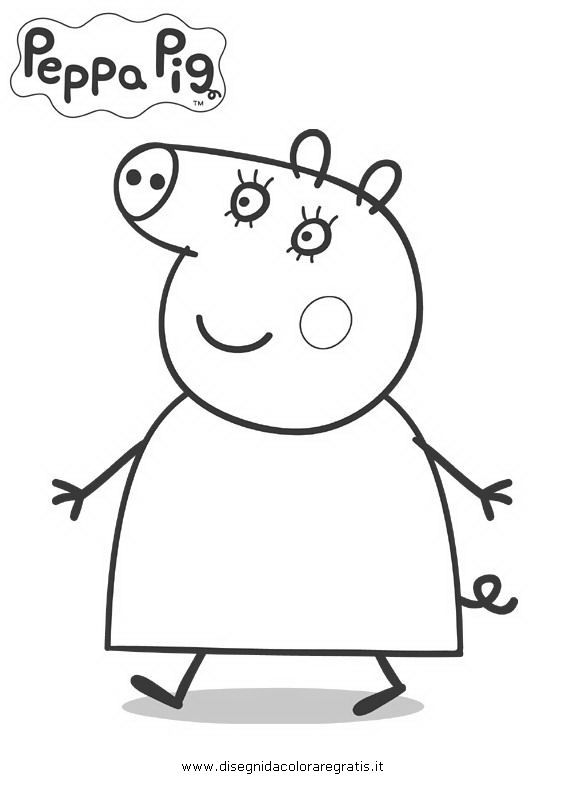 Disegno Peppa Pig 10 Personaggio Cartone Animato Da Colorare Peppa Pig Coloring Pages Peppa Pig Colouring Peppa Pig