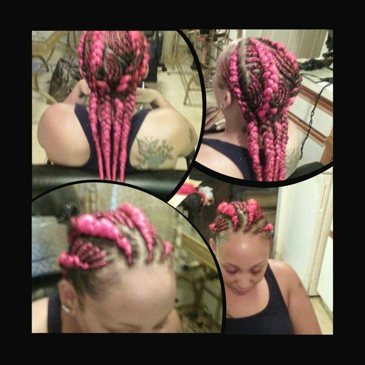"""Pink""  Designer Cornrows"