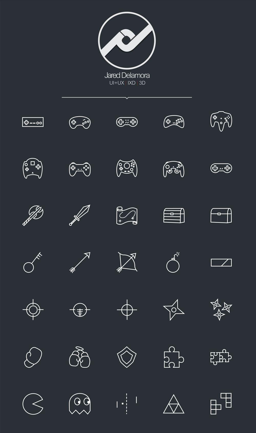 Free game icon set web design game icon icon set