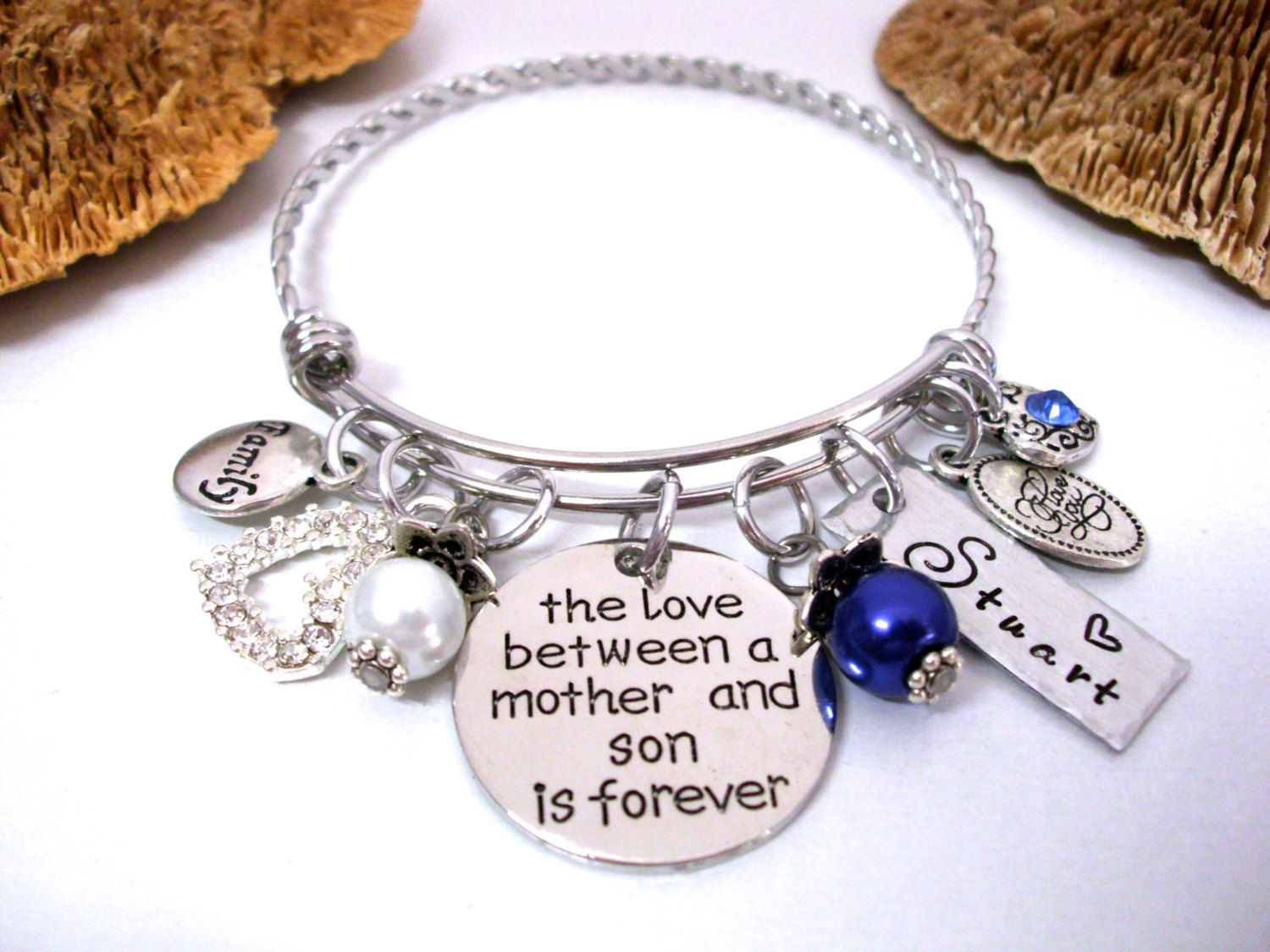 Mother And Son Jewelry Bracelet Personalized Gift For Mom From By Charmaccents On Etsy