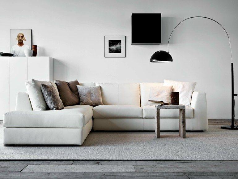 Divano angolare in tessuto con chaise longue MOOD | Divano con ...