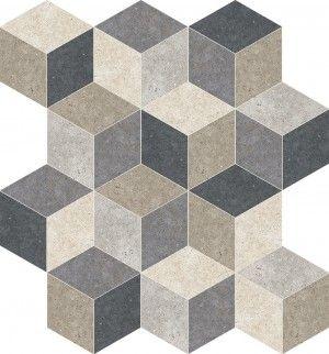 City Lights Mix Cube Mosaic  Matte  | Interceramic USA Glazed Porcelain Color Mixing, Glaze, Cube, Flooring, Lighting, Interior, Outdoor, Marble Mosaic, Stone Tiles