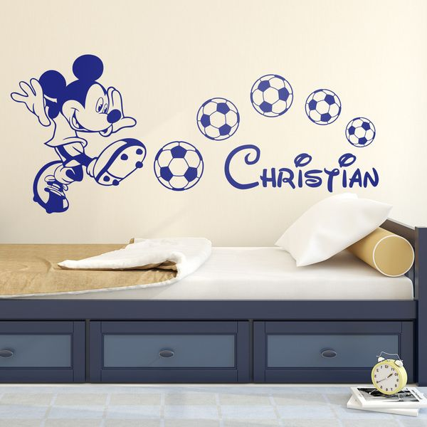 Mickey Mouse Football Graphics Shop Full Colour Personalised Wall Sticker