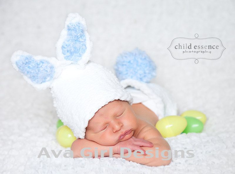 Knitting Pattern Rabbit Hat : Hat looming patterns knitted baby bunny rabbit and diaper