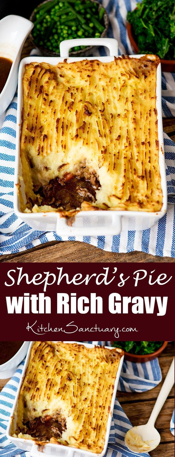 Shepherds Pie with Rich Gravy + Video #shepardspie