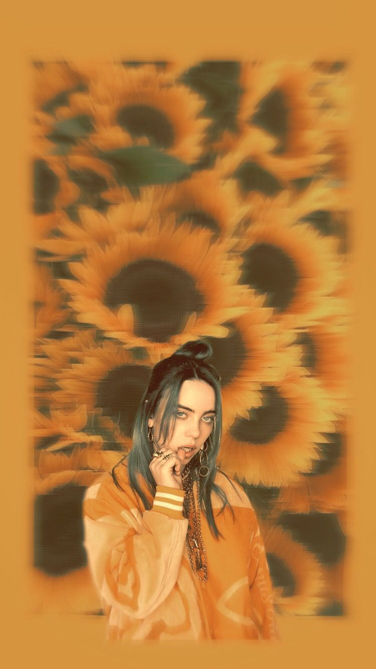Billie Eilish Yellow Sunflower Aesthetic Background I Made This And I M Very Proud Of It In 2020 Billie Eilish Yellow Sunflower Aesthetic Backgrounds