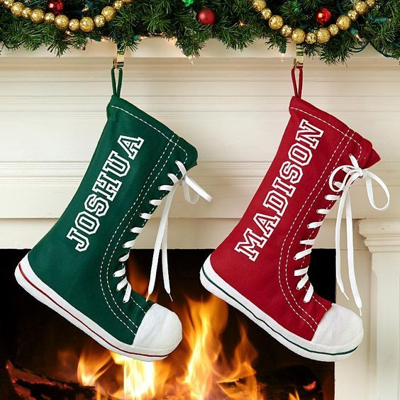 High Top Sneaker Stocking Personal Creations Moldes diversos
