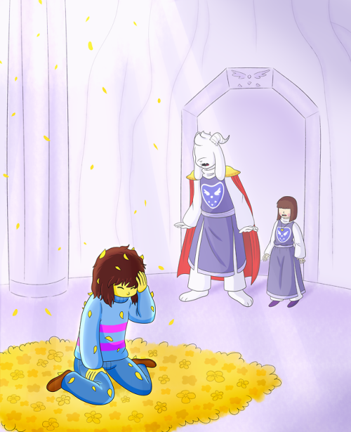 The Fall Of Frisk In The Underground And How They Became Part Of The Royal Dreemurr Family This Part 1 Au Where Undertale Fanart Undertale Art Undertale