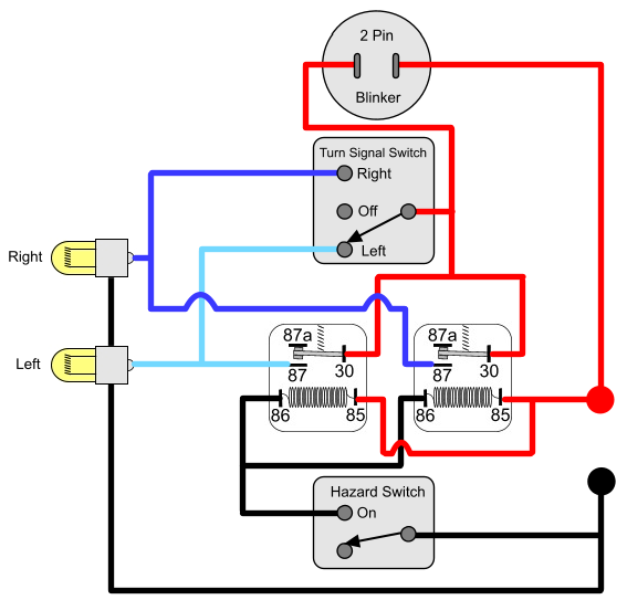 Wiring Diagram For Motorcycle Indicators
