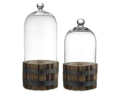 I love the Wood Bundle with Glass Dome on Williams-Sonoma.com