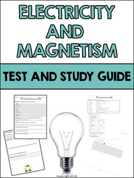 Electricity And Magnetism Test And Study Guide Tpt