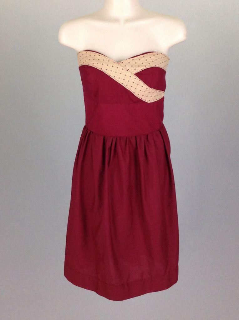 red strapless dress short
