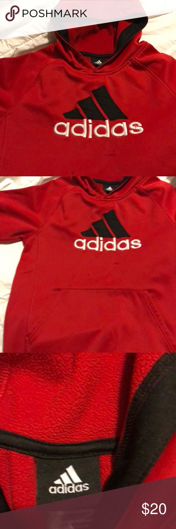 adidas Shirts & Tops   Like New Athletic Hoodie Boys L