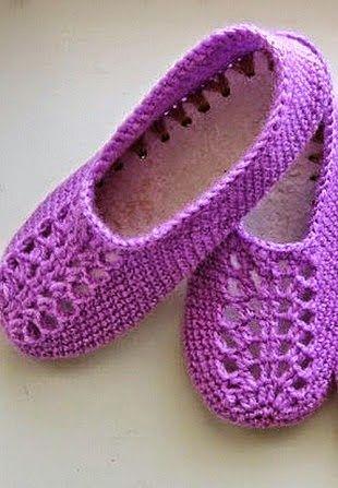 1a5fbdda9a As Receitas de Crochê  Sapato de adulto em crochê - receita ...