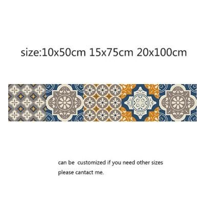 Photo of Arabic Style Mosaic Tile Stickers For Living Room Kitchen Retro 3D Waterproof Mural Decal Bathroom Decor DIY Adhesive Wallpaper – 15 / 10x50cm