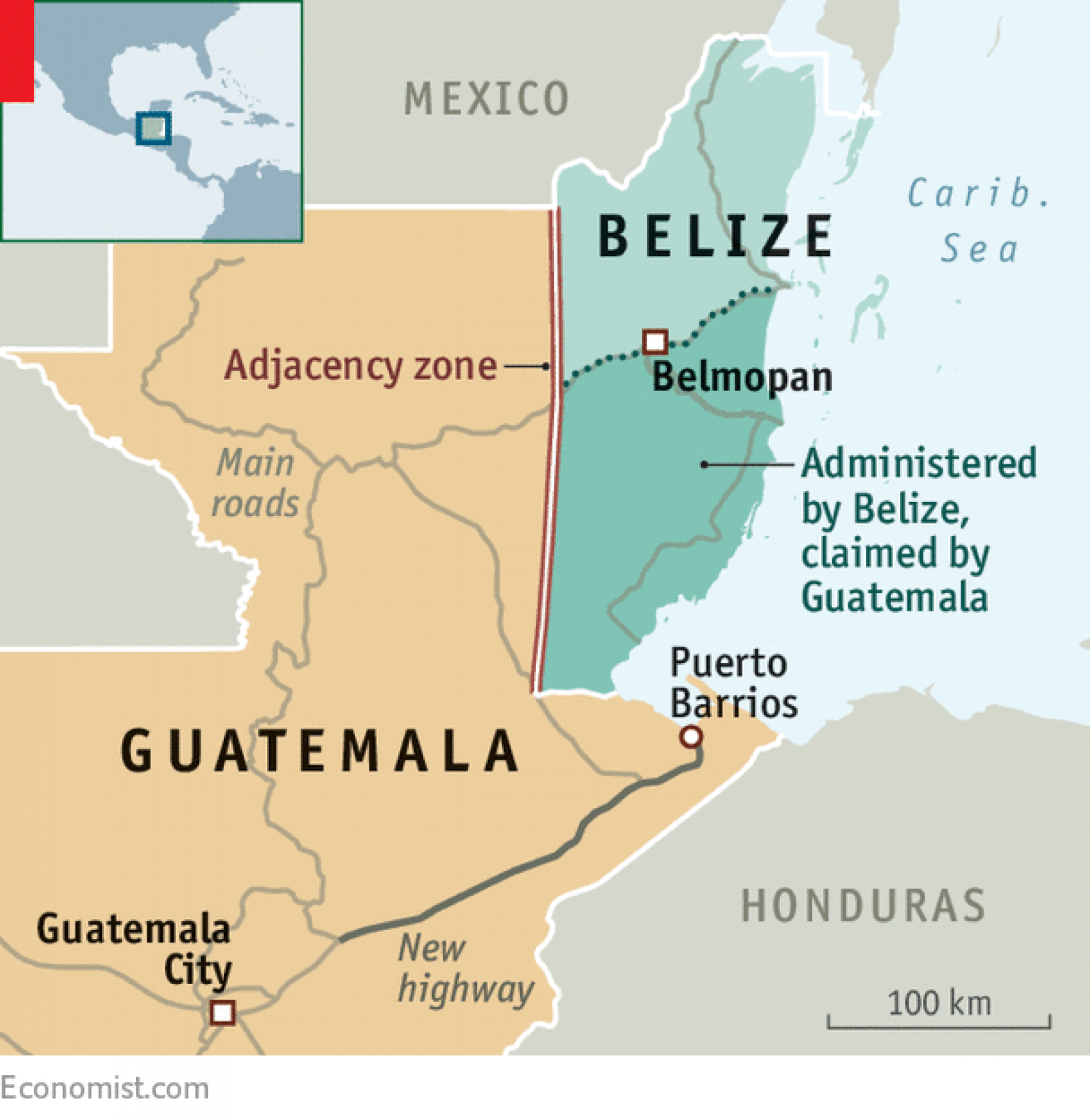 Guatemala Votes To Demand 53 Of Its Neighbour S Territory Guatemala Puerto Barrios Belize