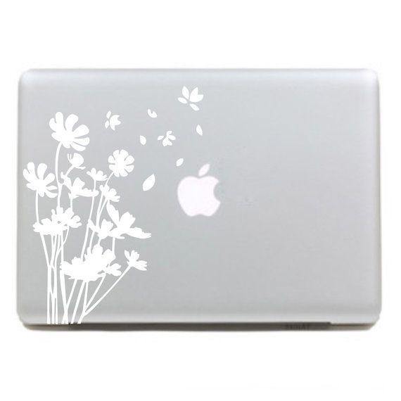 Beautiful flowers Macbook Decals Macbook Stickers Mac Decals Macbook Pro Air ipad sticker iphone sticker laptop decal