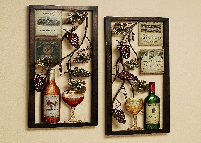 Metal Kitchen Wall Decor Get Impression With Kitchen Wall Decor