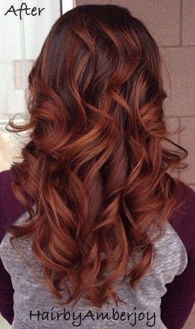 Burnt Cinnamon Red Fall Hair Color