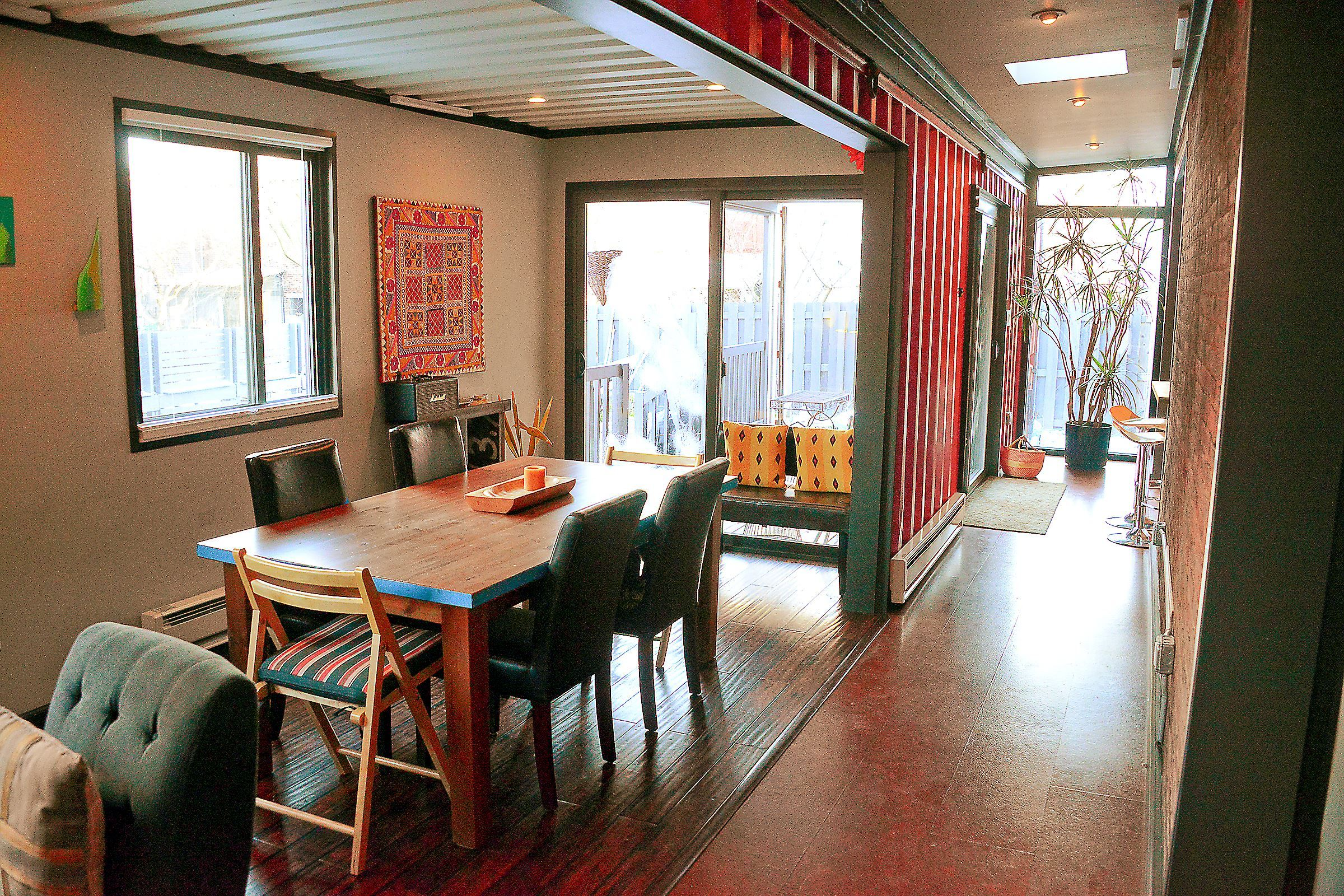 Shipping Container Becomes Addition On Lawrenceville Row House