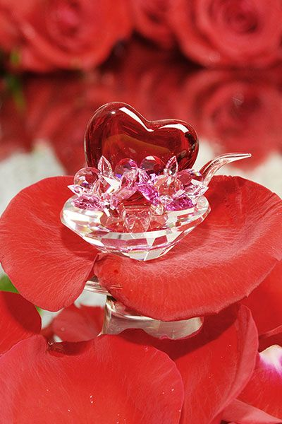 ValentineS Day Gifts  Red Crystal Valentine Heart  Crystal