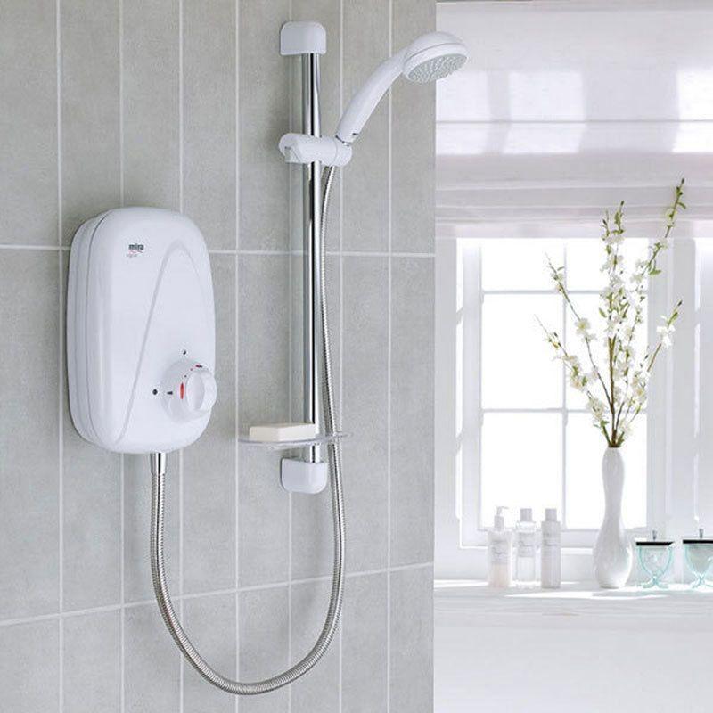 Mira Vigour Power Shower White Chrome Power Shower Mira
