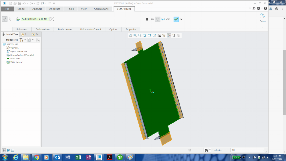 Convert Solidworks Sheet Metal Model Into A Flattened Dxf Drawing Using Creo Parametric Metal Models Solidworks Parametric